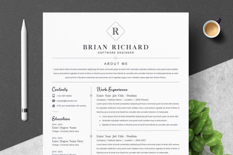 Clean Word Resume / CV Template