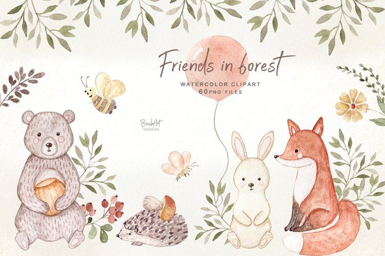Friends in Forest, Woodland Animals