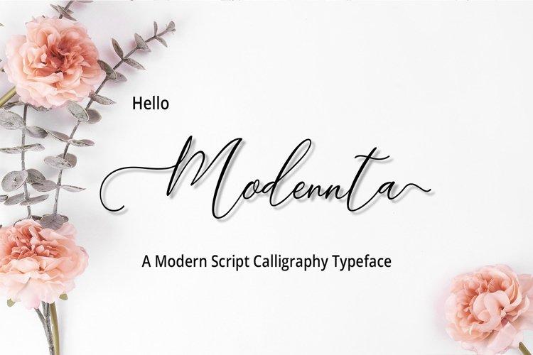 Modennta Script example image 1