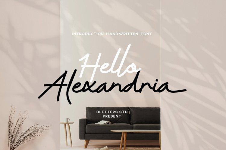 Hello Alexandria Modern Handwritten example image 1