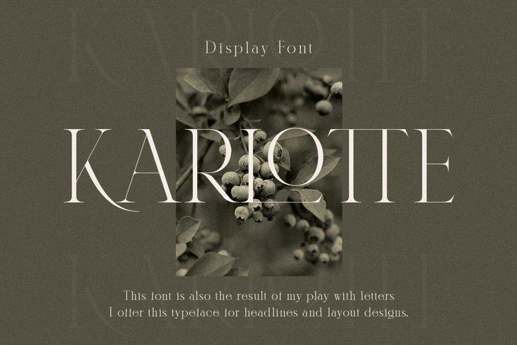 Karlotte - Elegant Serif Font example image 1