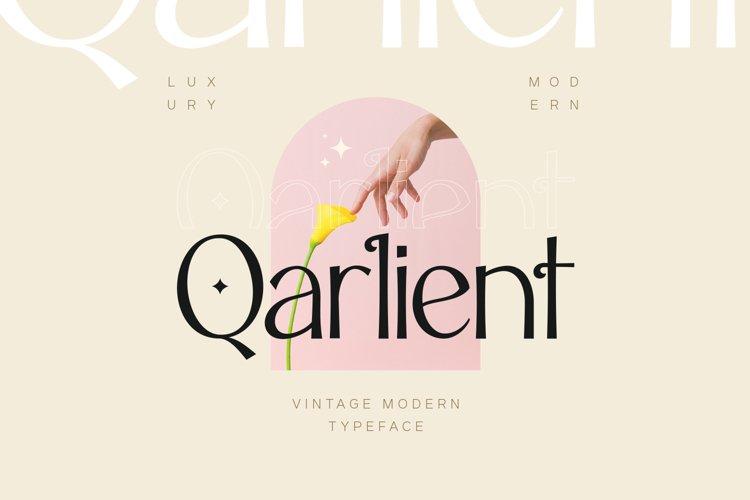 Qarlient - An Elegant Modern Display Font example image 1