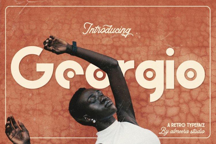 Georgio | Retro Typeface example image 1