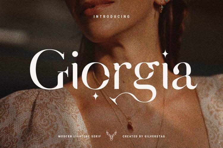 Giorgia - Elegant Ligature Serif example image 1