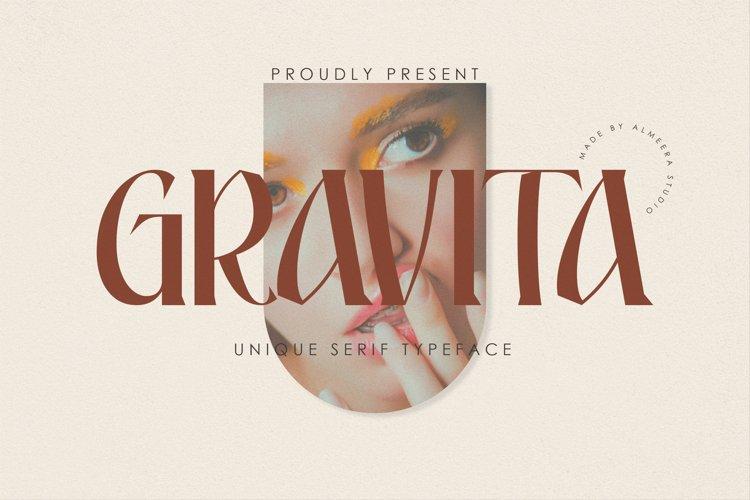 Gravita | Unique Serif Typeface example image 1