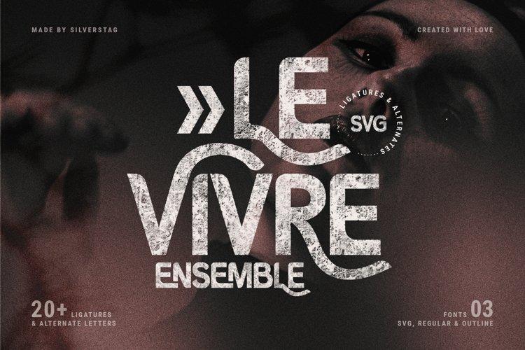 Le Vivre Ensemble - Bold SVG Type example image 1