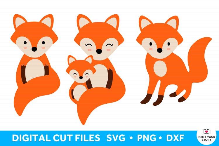Fox SVG bundle, 3 Fox Cut Files for Cricut and Silhouette