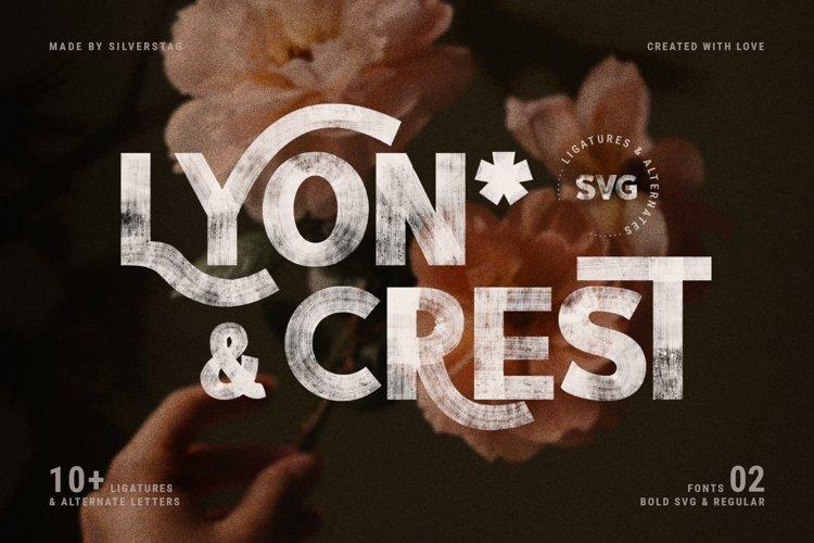 LYON & CREST - HandPainted SVG Type example image 1