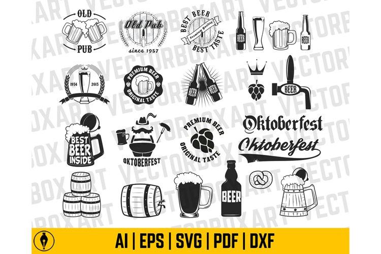 Beer Mug SVG, Beer Mug Shape Ai, Eps, Pdf, dxf. Beer Glass,