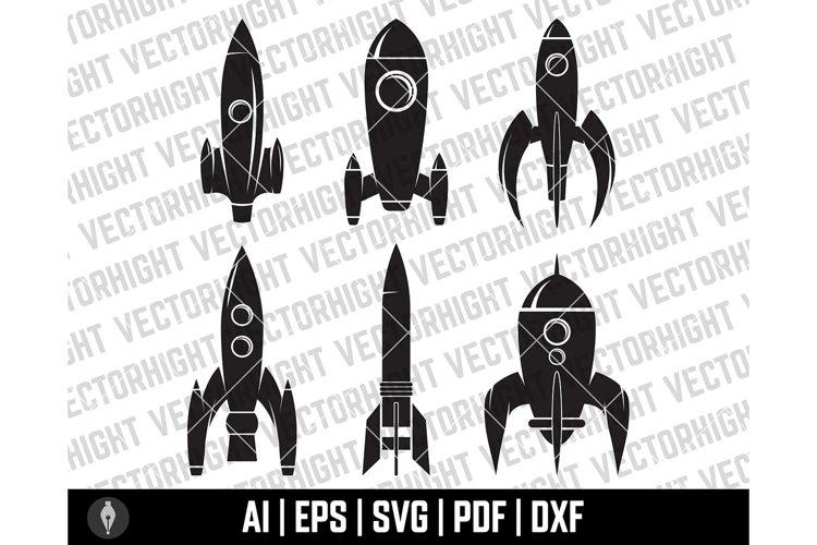 Space Rocket Clipart SVG, Space Shuttle Shape Ai, Eps, Pdf