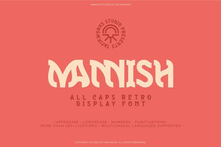 Mannish All Caps Retro Display Font example image 1