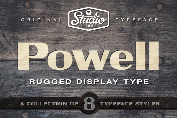 Powell   Rugged Display Typeface example image 1