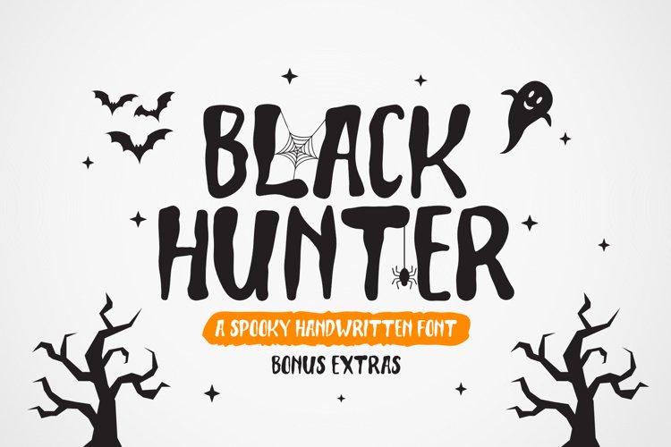 Black Hunter - Spooky Halloween font example image 1