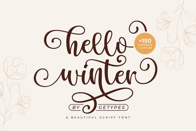 Hello Winter - A Bouncy Handwritten Script Font example image 1