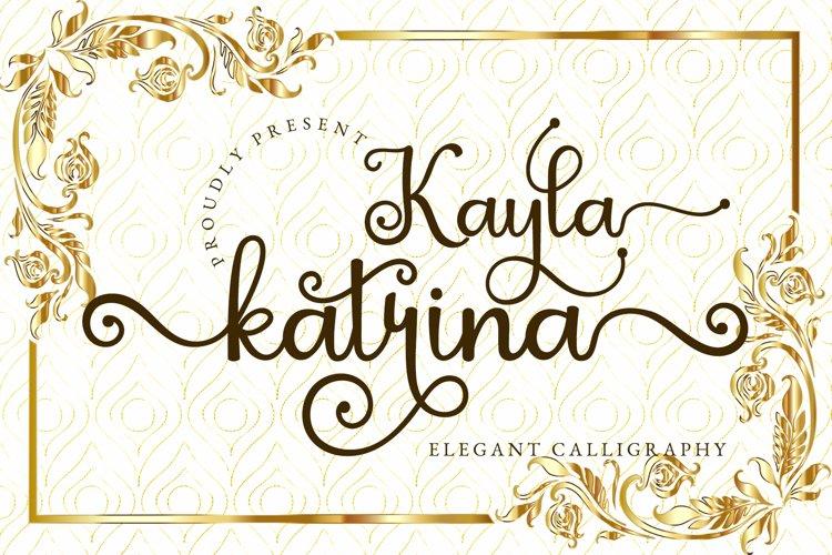 Kayla Katrina - Swirly Calligraphy example image 1