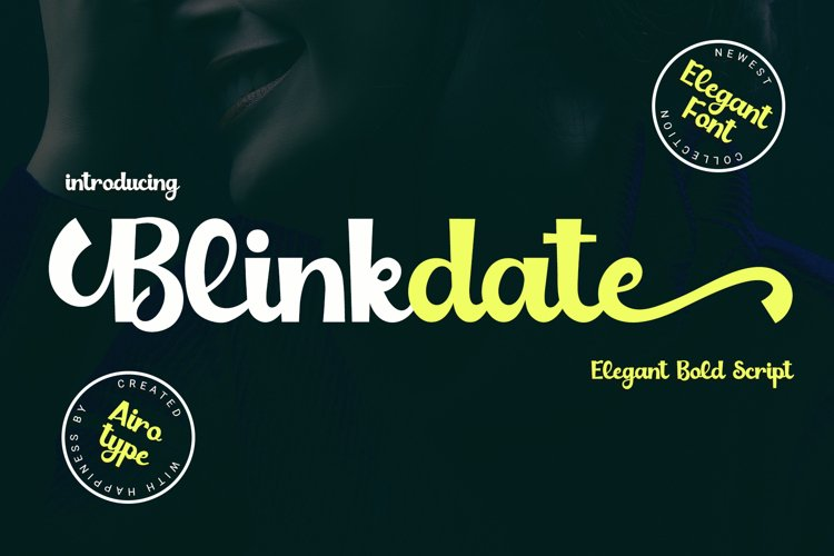 Blinkdate - Elegant Script example image 1