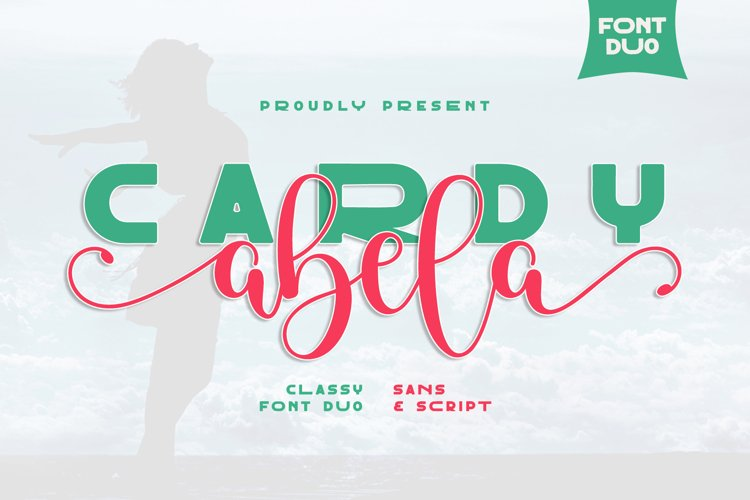 Cardy Abela Font Duo - Bold Sans and Tail Swash Script