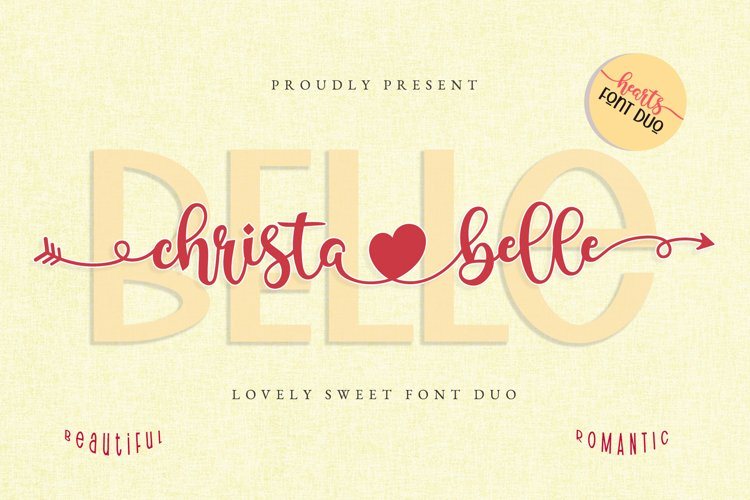 Christabelle Font Duo - Heart Connection Font