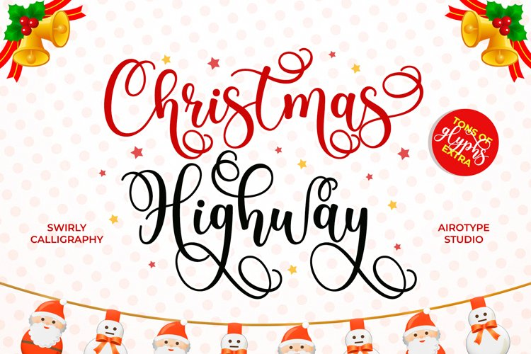 Christmas Highway - Swirly and Bouncy Script example image 1