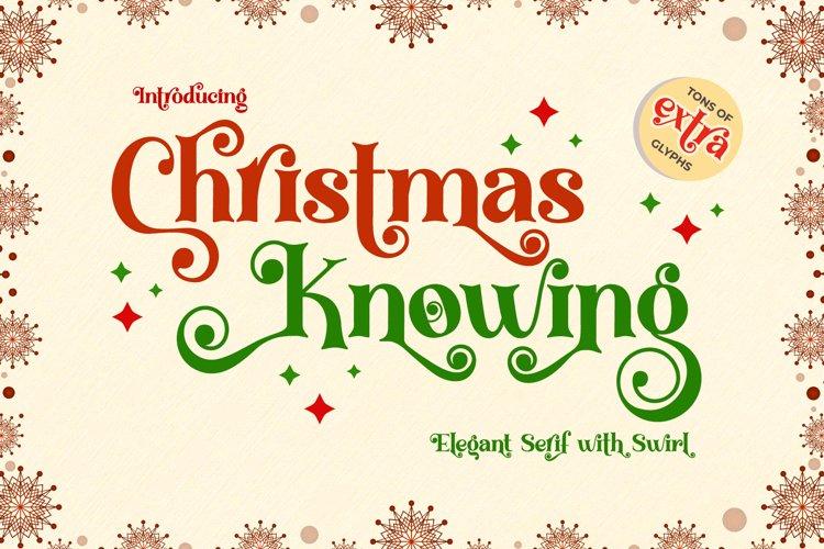 Christmas Knowing - Swirly Serif Font example image 1