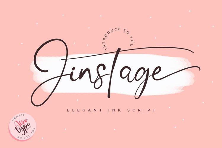 Jinstage Script - Ink Signature Font example image 1