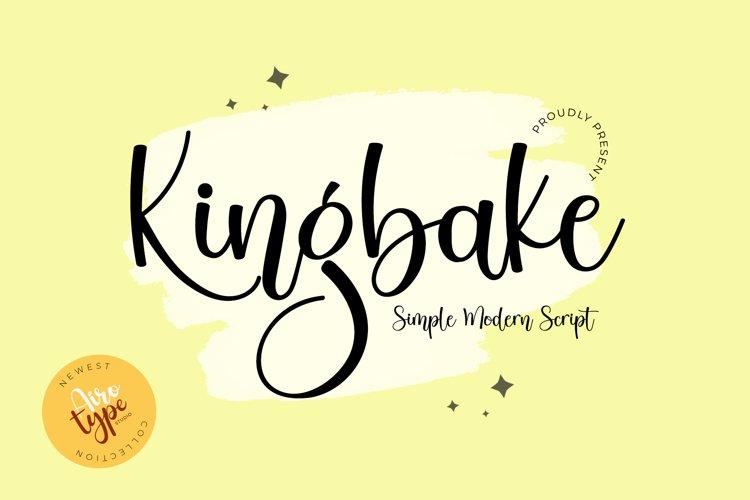 Kingbake - Simple Bouncy Script Font example image 1
