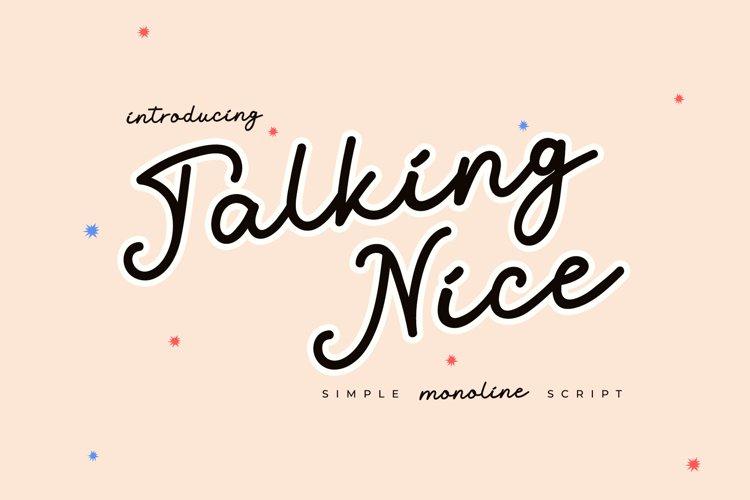 Talking Nice - Monoline Script example image 1