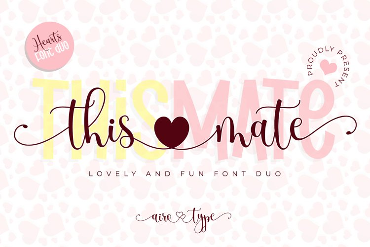 This Mate Font Duo - Heart Swash and Fun Script example image 1