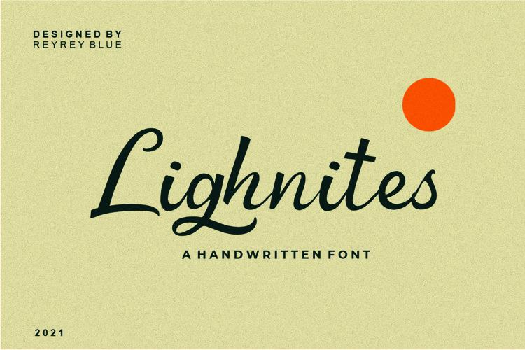 Lighnites - Vintage Font example image 1
