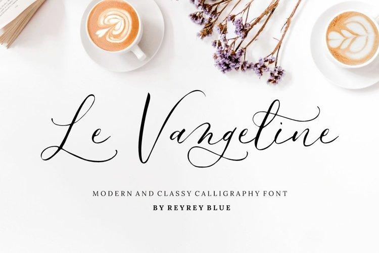Le Vangeline - Wedding Font example image 1