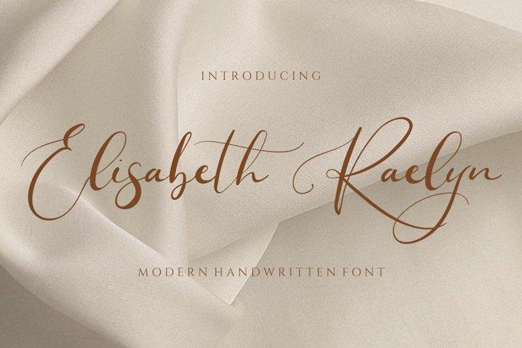 Elisabeth Raelyn - Wedding Calligraphy example image 1