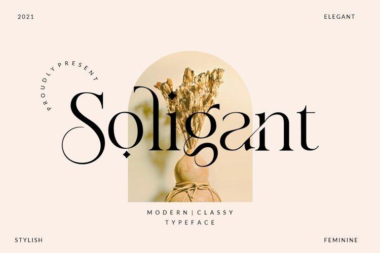 Soligant - Display Serif Font example image 1
