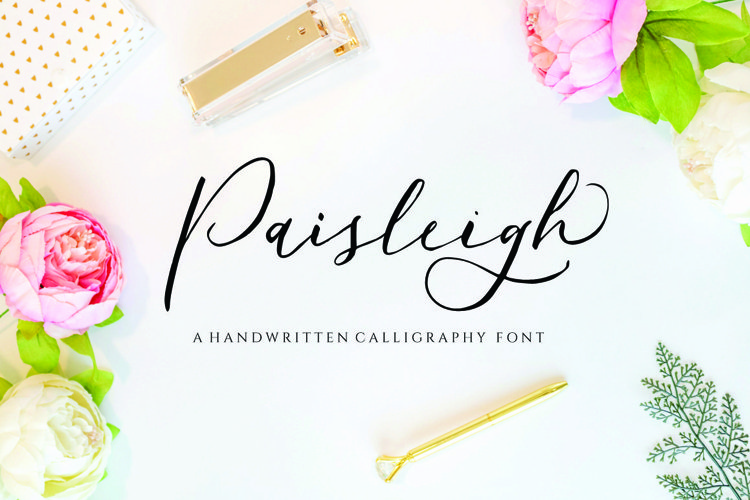 Paisleigh - wedding font example image 1