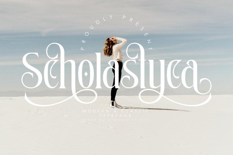 Scholastyca   Serif Typeface example image 1