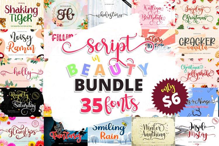 Font Bundles - Script in Beauty