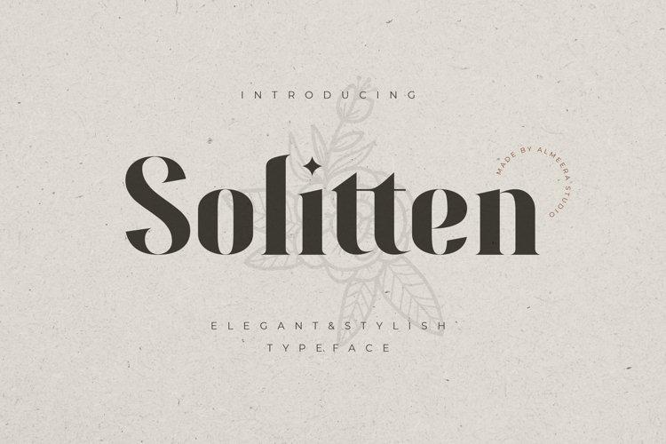 Solitten | Elegant & Stylish Typeface example image 1