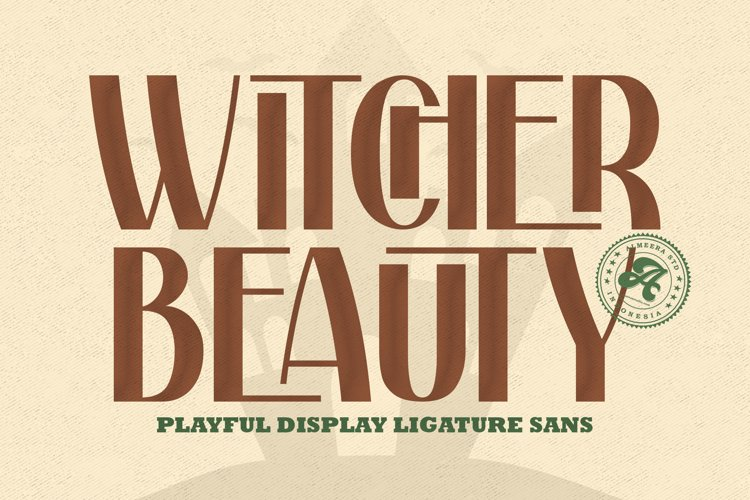 Withcher Beauty   Ligature Sans Typeface example image 1