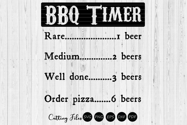 BBQ Timer | grill | summer | SVG Cut File example image 1