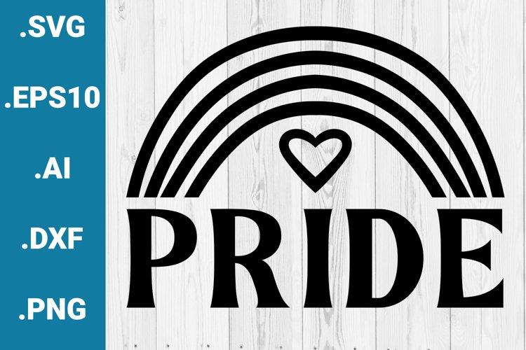 Pride Rainbow Gay Pride LGBTQ Cricut Quote SVG