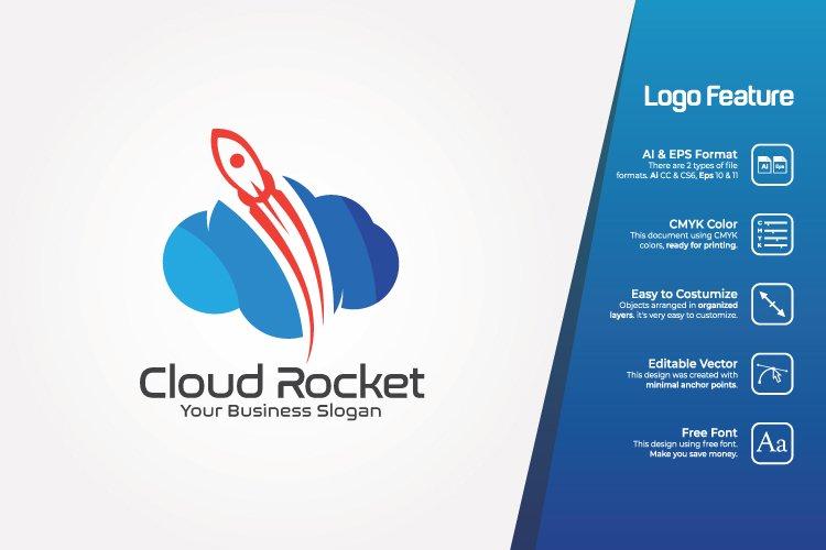 Cloud Rocket Logo Template