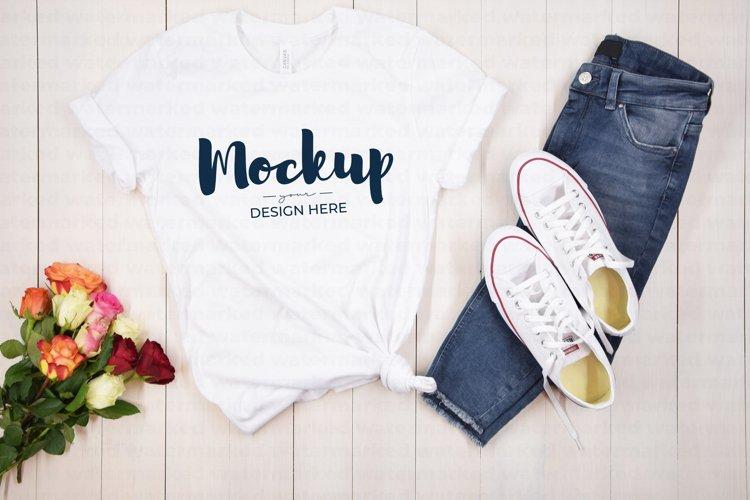 Valentins Day Mockup, White Shirt Mock up, Bella Canvas