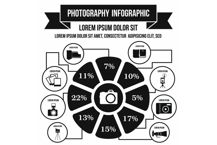 Photography infographic, simple style example image 1