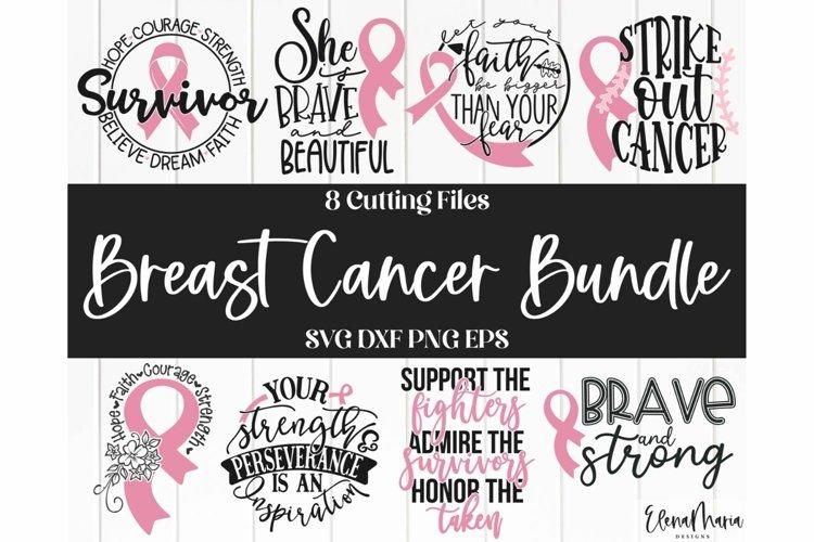 Breast Cancer SVG Bundle 8 SVG Designs