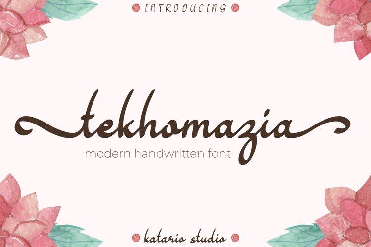 Tekhomazia | Web Font example image 1