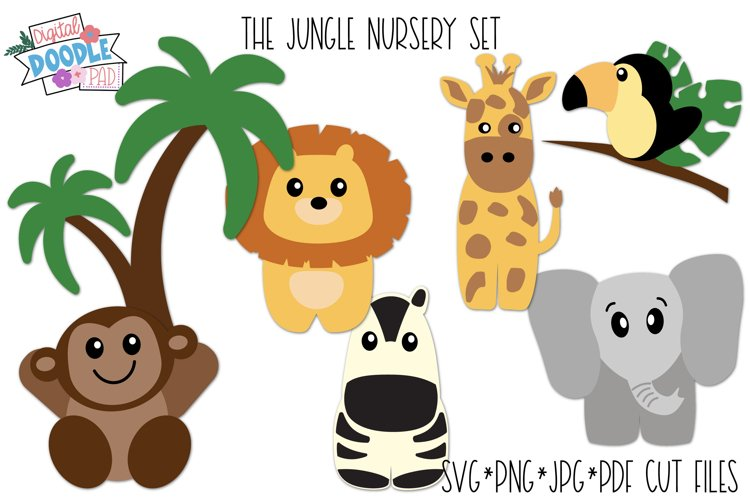 Jungle Nursery SVG Cut File Set For Cricut and Silhouette