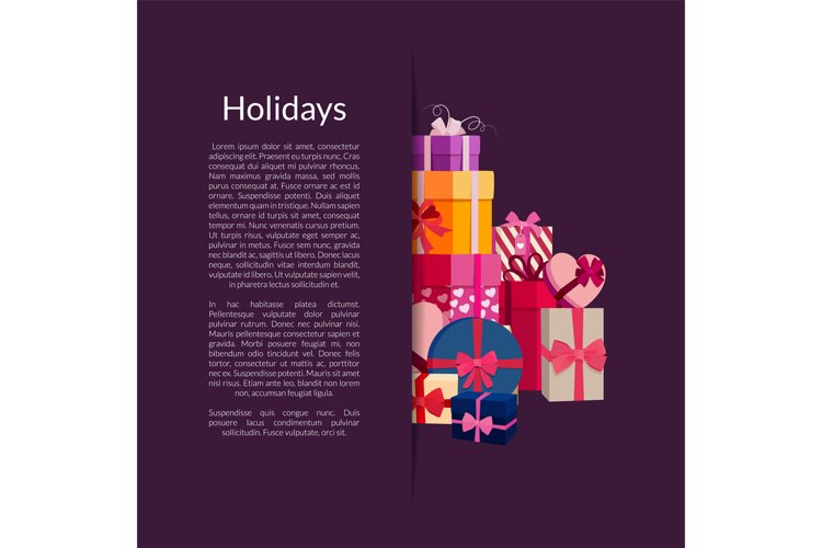 Vector gift boxes or packages pile example image 1