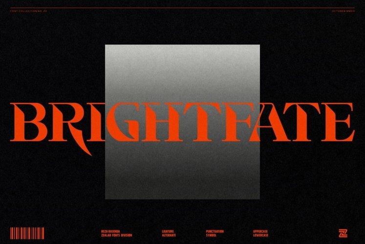 Brightfate - Multipurpose Display Font example image 1
