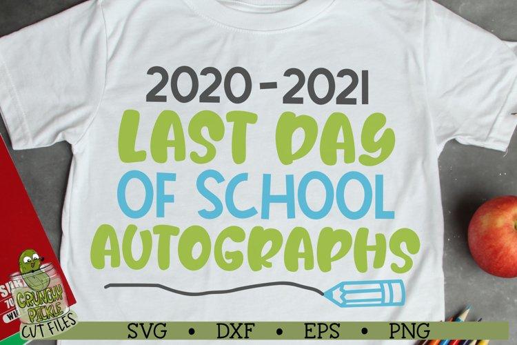 Last Day of School Autographs 2 SVG