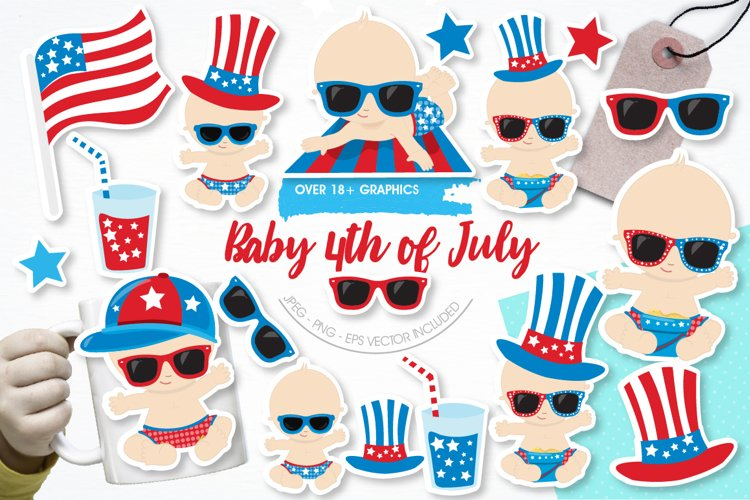 Baby 4th of July graphics and illustrations