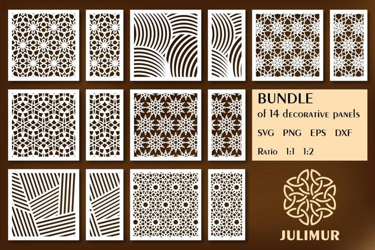 Download Bundle Of Decorative Wood Panel Laser Cut Template 671654 Laser Engraving Design Bundles